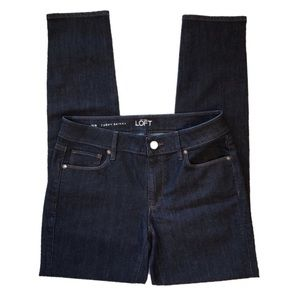 LOFT Curvy Skinny Dark Wash Denim Jeans Size 6